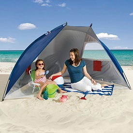 Beach Shelter with Spf 50 Sun Protection