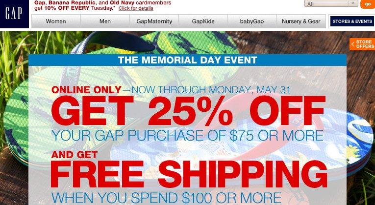Gap Memorial Day Event
