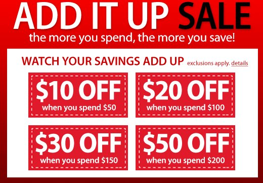 Macys Add it Up Sale