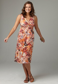 bright mixed floral print smocked sundress