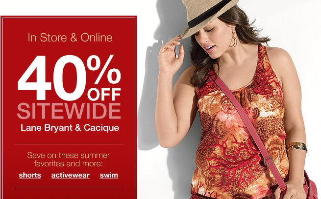 Lane Bryant Site-wide offer