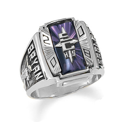 Mens Siladium Crestline Legacy Class Ring