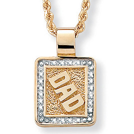 10k Diamond Accent Dad Pendant