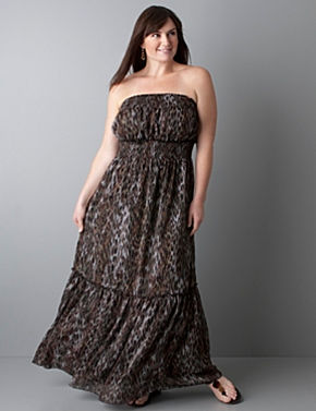 Animal print maxi sundress