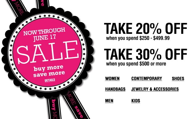 Bloomingdales Buy More Save More Sale
