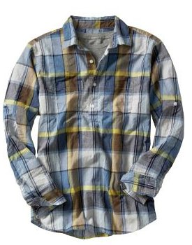 Blue plaid popover