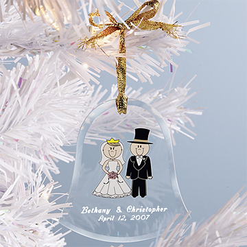 Bride And Groom Bell Ornament