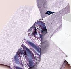 Check Pinpoint Oxford Short Sleeve Dress Shirt