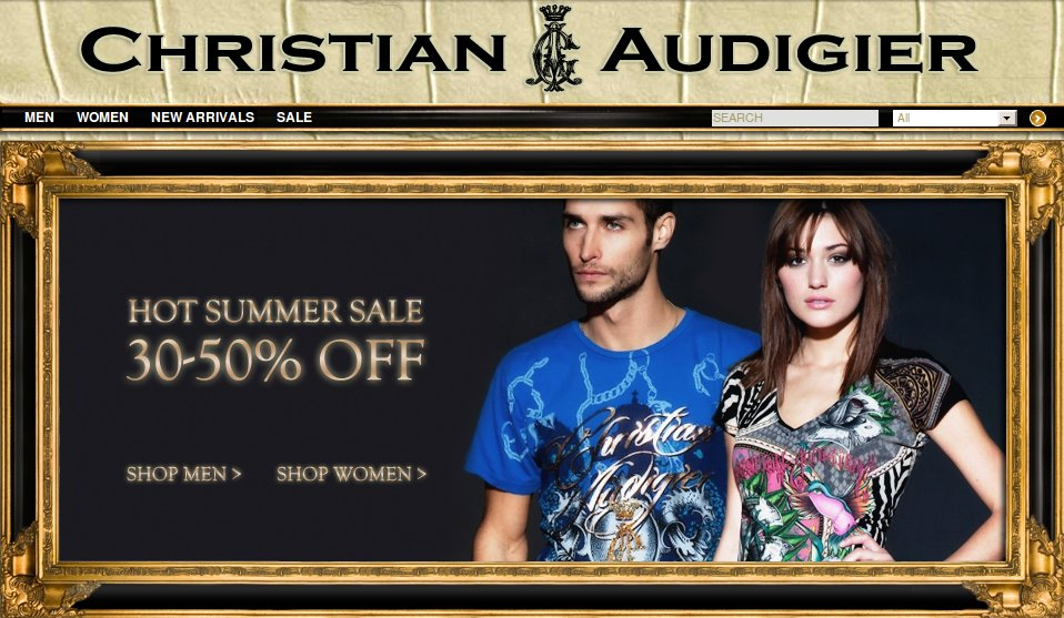 Christian Audigier hot summer sale