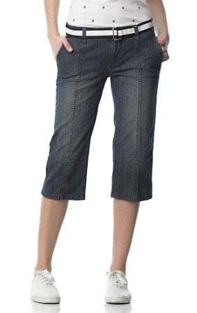 Cropped Medium Wash Denim Jean