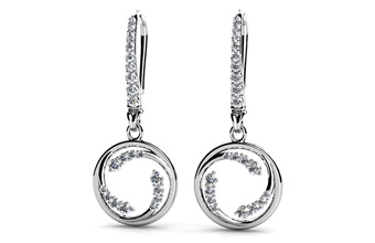 Diamond Wave Hoop Earrings