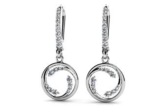 Diamond Wave Hoop Earrings