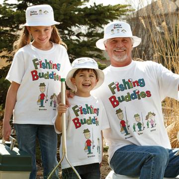 Fishing Buddies Adult T-shirt