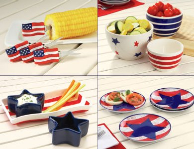 Flags Flying serveware