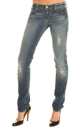 J11 - Indigo Destruction Skinny Leg