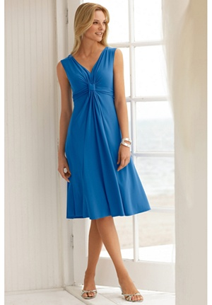 Knot Front Knit Dress