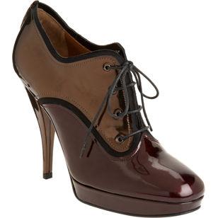 Lanvin Metallic Oxford Shoe Bootie