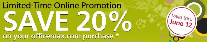 Office Max limited time online promotion
