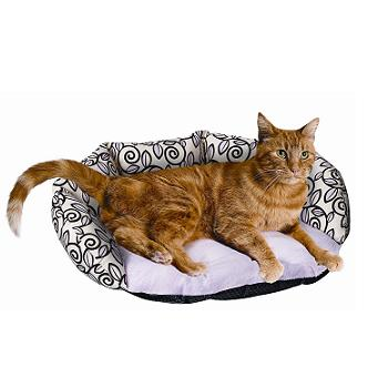 PETCO Chaise Cat Bed in Pink with Floral Pattern