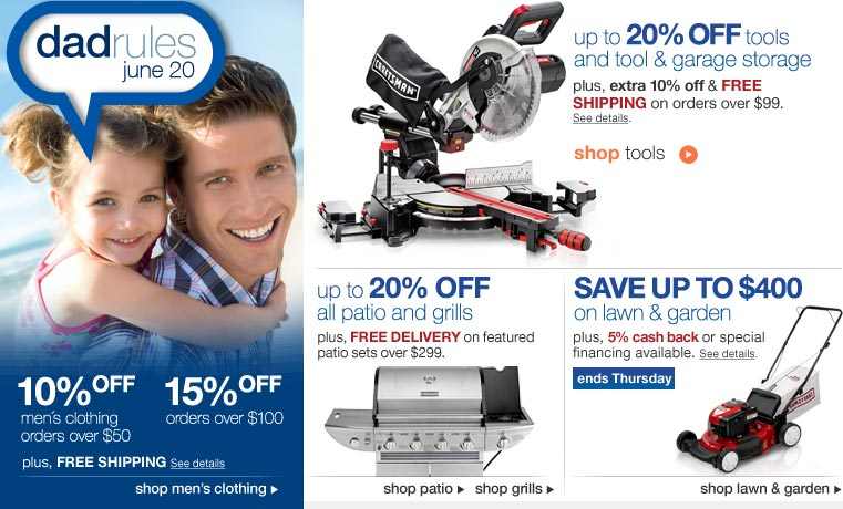 Sears Fathers Day Offers