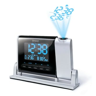Self-Setting Atomic Projection Clock with Outdoor Temperature