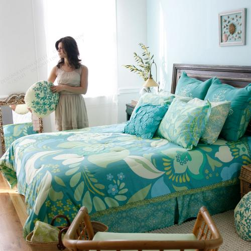 Amy Butler Dancing Garden Comforter and Sham Set