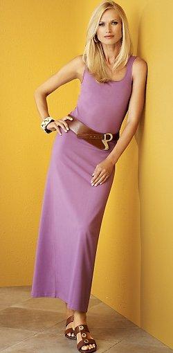 Signature Pima Cotton Knit Collection Long Tank Dress