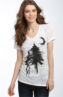 The Twilight Saga Eclipse for BP Inked Trees V-Neck Tee