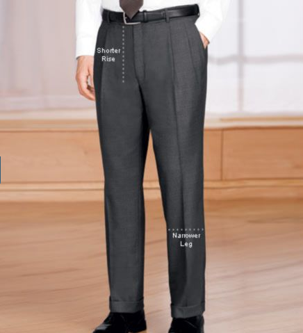 Traveler Tailored Fit Pleated Front Trousers
