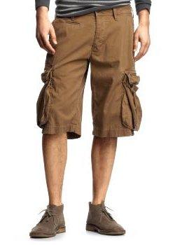 Zip cargo shorts