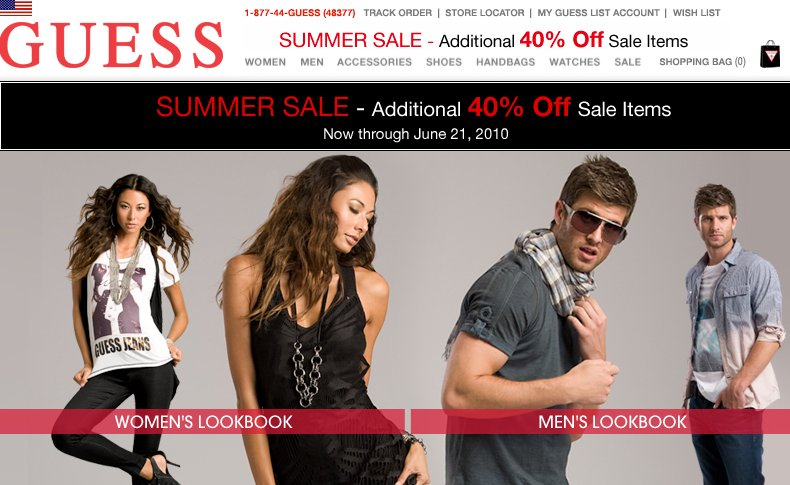 guess 40 off summer sale
