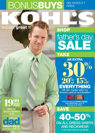 kohls fathers day sale