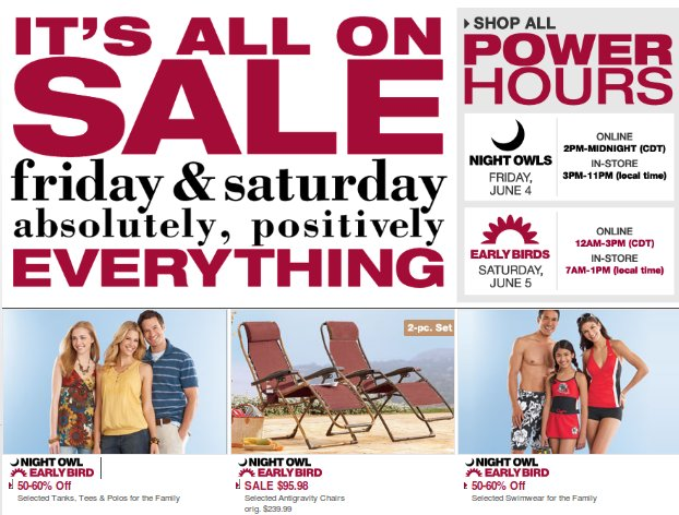 kohls weekend sale