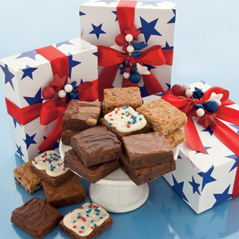 star spangled gift boxes assorted brownies