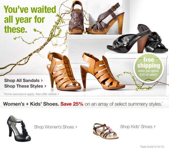 target shoes sale