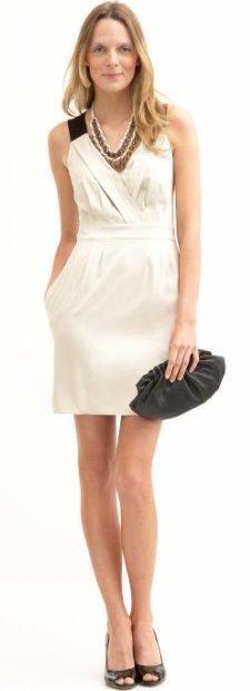 BR Monogram deep vee back-zip dress