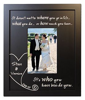 Beside You Wood Frame with Wedding Date