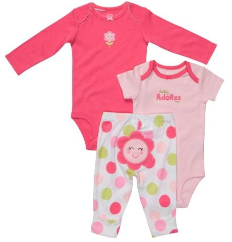 Carter's Girls 3-Piece Flower Set
