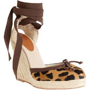 Christian Louboutin Carino Plato Leopard sandals