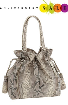 Cole Haan Bailey Pebbled Embossed Leather Drawstring Tote