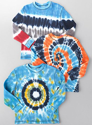 FLAPDOODLES Boys 2-7 Long-Sleeved Tie-Dyed Thermal Shirt