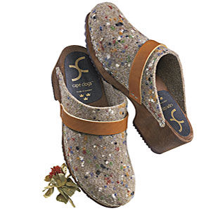 Flecked Wool Clogs