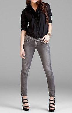 James Jeans Belle Steel Grey Skinny Leg Jean