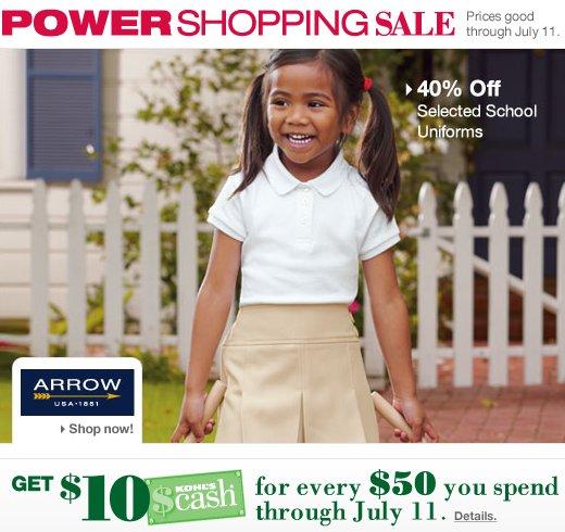 Kohls Back to School Savings