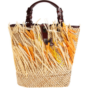 Laetitia straw bag