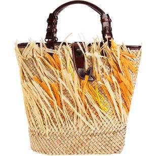 Laetitia straw bag