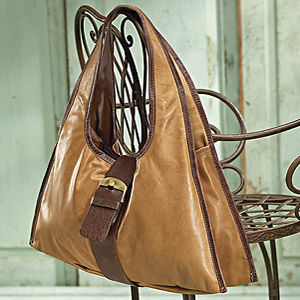 Leather Carry All Shoulder Bag