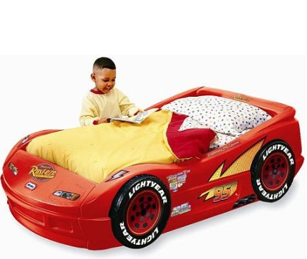 Little Tikes Disney Pixar Cars The Movie Lightning McQueen Plastic Toddler Bed