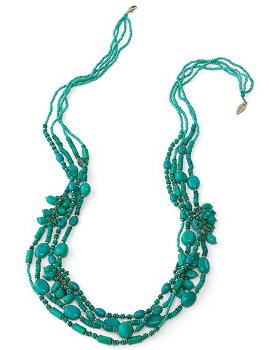 Multi strand flutter necklace
