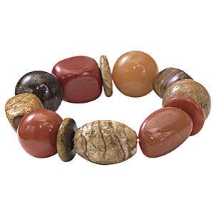 Polished Stones Stretch Bracelet